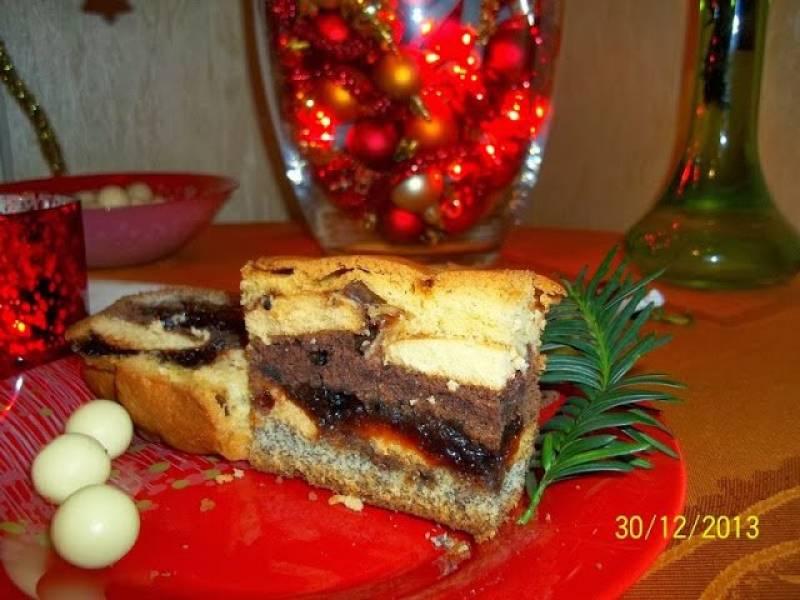 Ciasto z biszkoptami i makiem