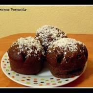 Muffiny czekoladowe przyprószone śniegiem ;)