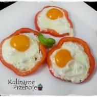 Jajko smażone w papryce