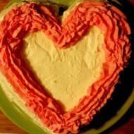 Ciasto waniliowe z masą kajmakową i kremem mascarpone