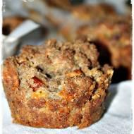 Żytnie muffinki z kabanosem i serem gouda