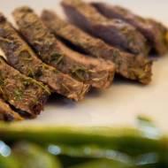 Stek z rozmarynem i tymiankiem. / Steak with rosemary and thyme.