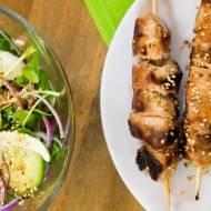 Szaszłyki z kurczaka w sosie teriyaki. / Chicken teriyaki skewers.