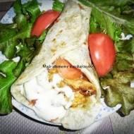 Tortilla z kebabem