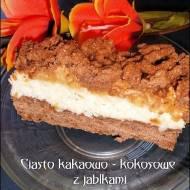 Ciasto kakaowo - kokosowe z jabłkami