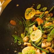 Cytrynowe stir fry . / Lemon stir fry.