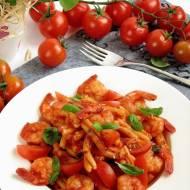 Makaron z krewetkami i pomidorami - ekspresowo !