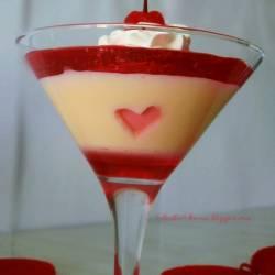 Deser z Mlekiem Skondensowanym na Walentynki