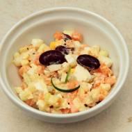 Sałatka jarzynowa z warzyw z zupy