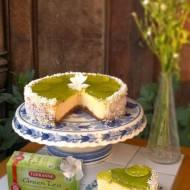42. Wytrawny biało-zielony limon: czyli limonkowy sernik z dodatkiem zielonej herbaty z echinaceą!