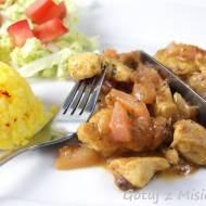 Kurczak z karmelizowaną gruszką i żurawiną