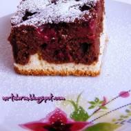 Ciasto na niespodziewanych gości - dwukolorowiec wiśniowy