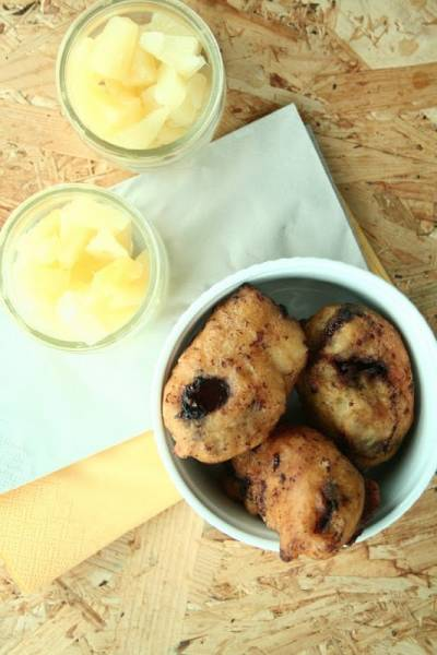 Bounty z ananasem smażone w głębokim tłuszczu