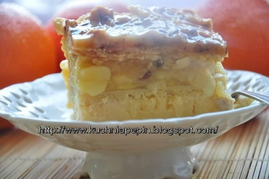 Jabłecznik orzechowo serowy