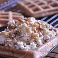 Gofry z żytniej razowej mąki  - śniadanie