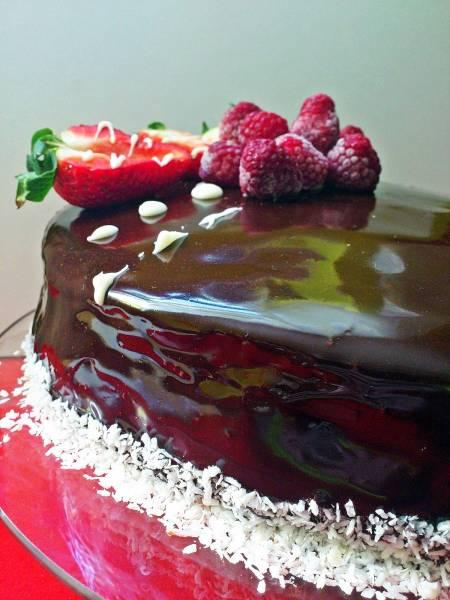 Ciasto francuskie z kremem karpatkowym.