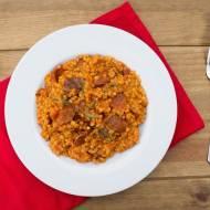 Pęczotto  z chorizo i rozmarynem.  / Chorizo & rosemary pearl barley risotto.