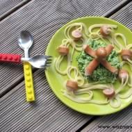 """Spaghetti """"ośmiornica na zielonej plaży"""""""