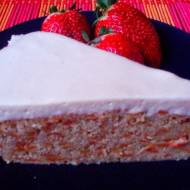 Ciasto marchewkowe z kremem chałwowym