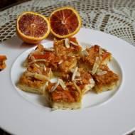 Mazurek migdałowo pomarańczowy
