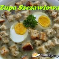 Zupa szczawiowa z grzankami i jajkiem