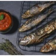 Alma: Grillowana makrela z warzywami i puree ziemniaczanym