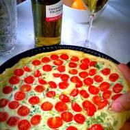 Tarta z pomidorkami cherry