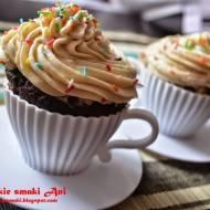 Kawowe muffinki z kremem chałwowym