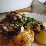 Pieczony kurczak z salsą z granatem wg Billa Grangera