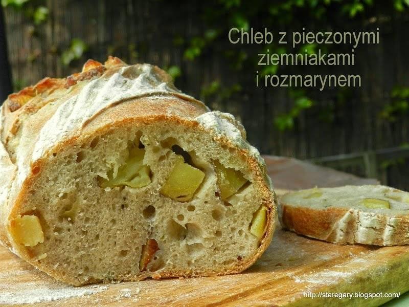 Chleb z pieczonymi ziemniakami i rozmarynem - Majowa Piekarnia