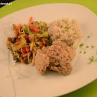 Kotlety sojowe z warzywami i kaszą / Cutlets with vegetables and soy grits