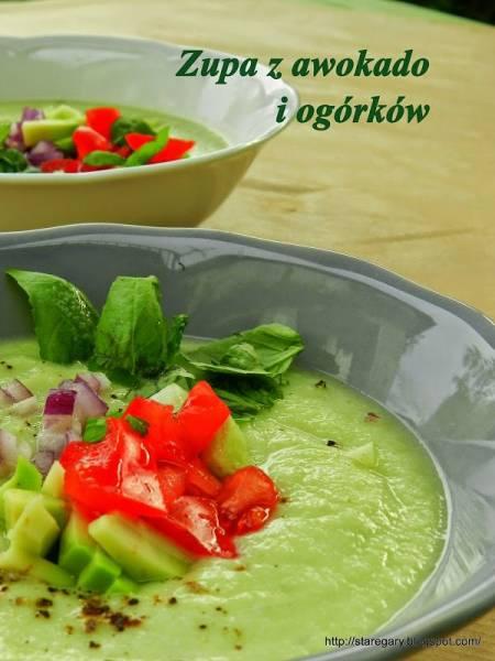 Zupa z awokado i ogórków