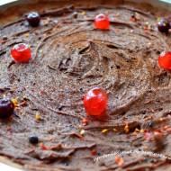 63.Proste przyjemności: czyli tarta z kremem czekoladowym, wiśniami, i chili!