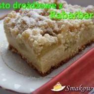 Ciasto Drożdżowe 2 w 1 z Rabarbarem i Budyniem