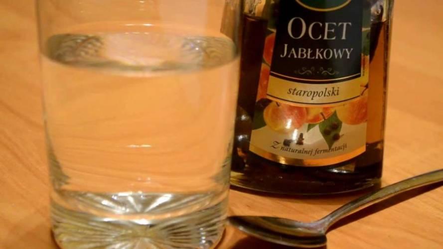 Woda z octem jabłkowym na odchudzanie