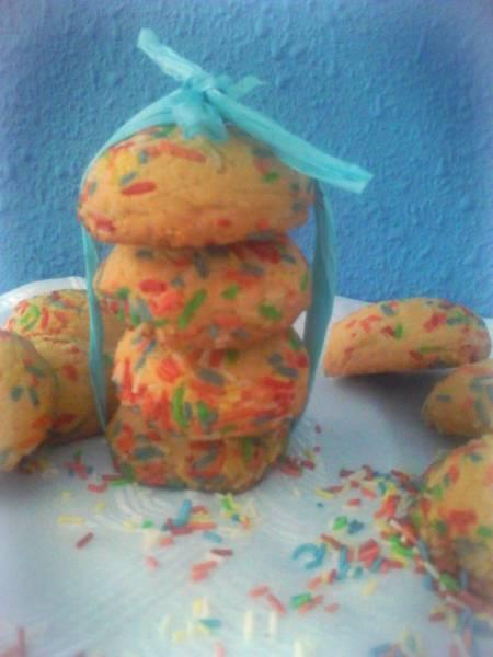 Kolorowe ciastka