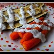 Bezmięsnie- pieczone marchewki i cukinia