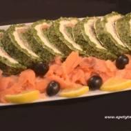 Rolada szpinakowa z łososiem / Spinach roulade with salmon