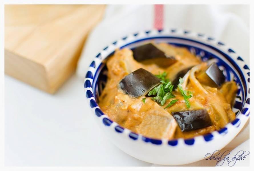 Czerwone curry z bakłażana (wegetariańskie)
