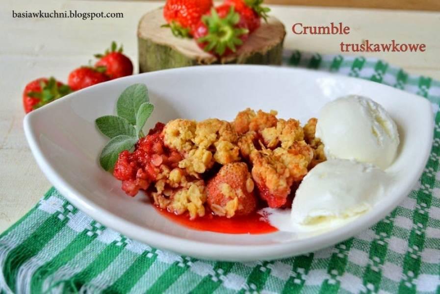 Crumble z truskawkami
