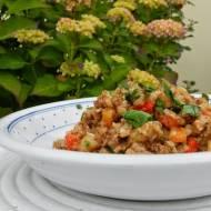 Kaszotto z kaszy gryczanej z warzywami i cieciorką