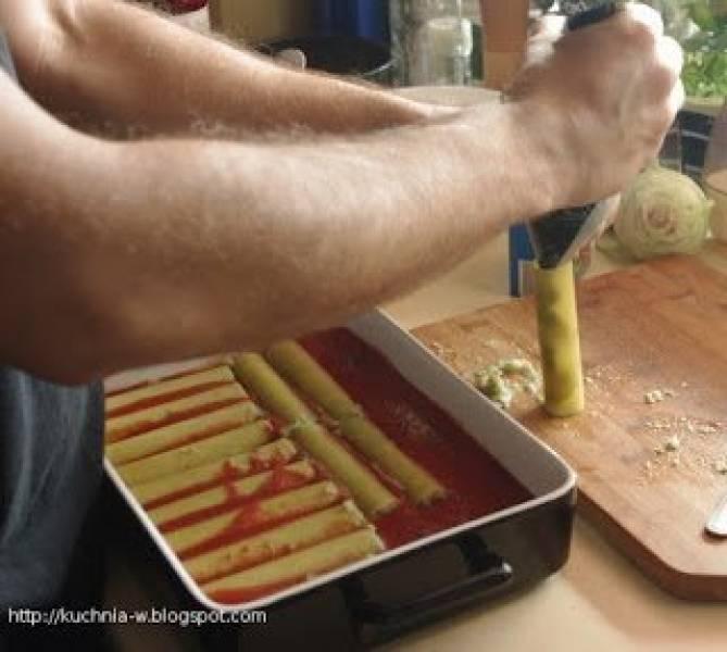 Cannelloni z brokułami i kalafiorem