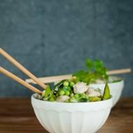 Tajskie zielone curry z kurczakiem.