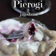 Pierogi z jagodami/ Dumplings with blueberries