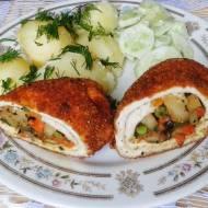Roladki drobiowe z warzywami