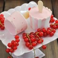 Lody jogurtowo-porzeczkowe