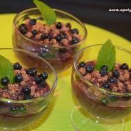 Deser jagodowy z mlekiem kokosowym / Berry dessert with coconut milk