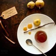 Galaretka z miodu pitnego z jabłkami łąckimi i miodem kurpiowskim
