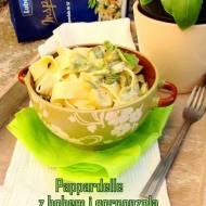 Pappardelle z bobem i gorgonzolą