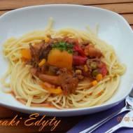 Spaghetti z kurkami a la mąż